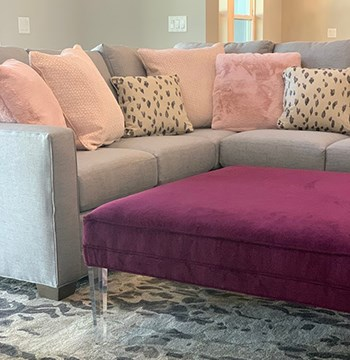 beige and pink themed living room