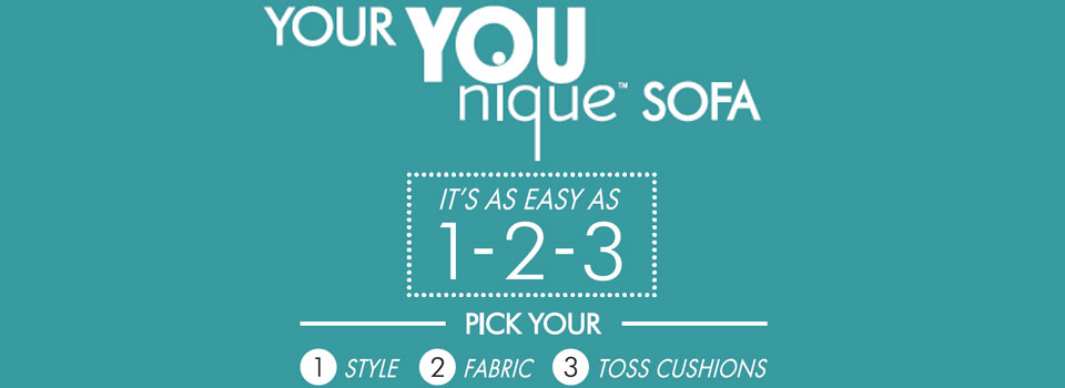 Your Younique Sofa is as Easy as 1, 2, 3!