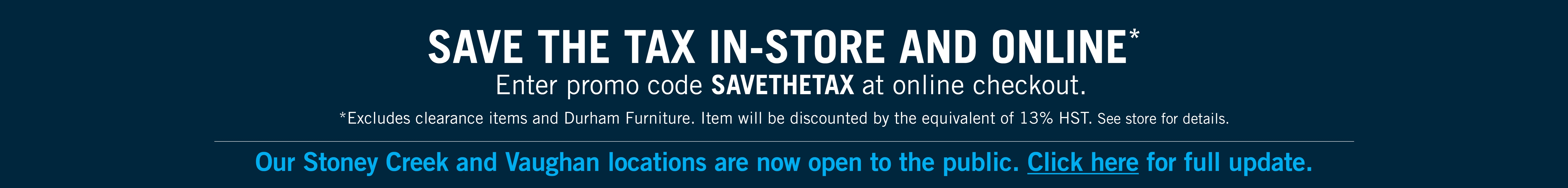 save the tax - use code savethetax at checkout
