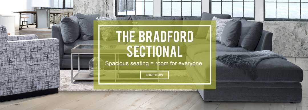 Bradford grey sectional