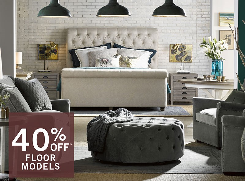 Floor Model Sale - Navy Sofa