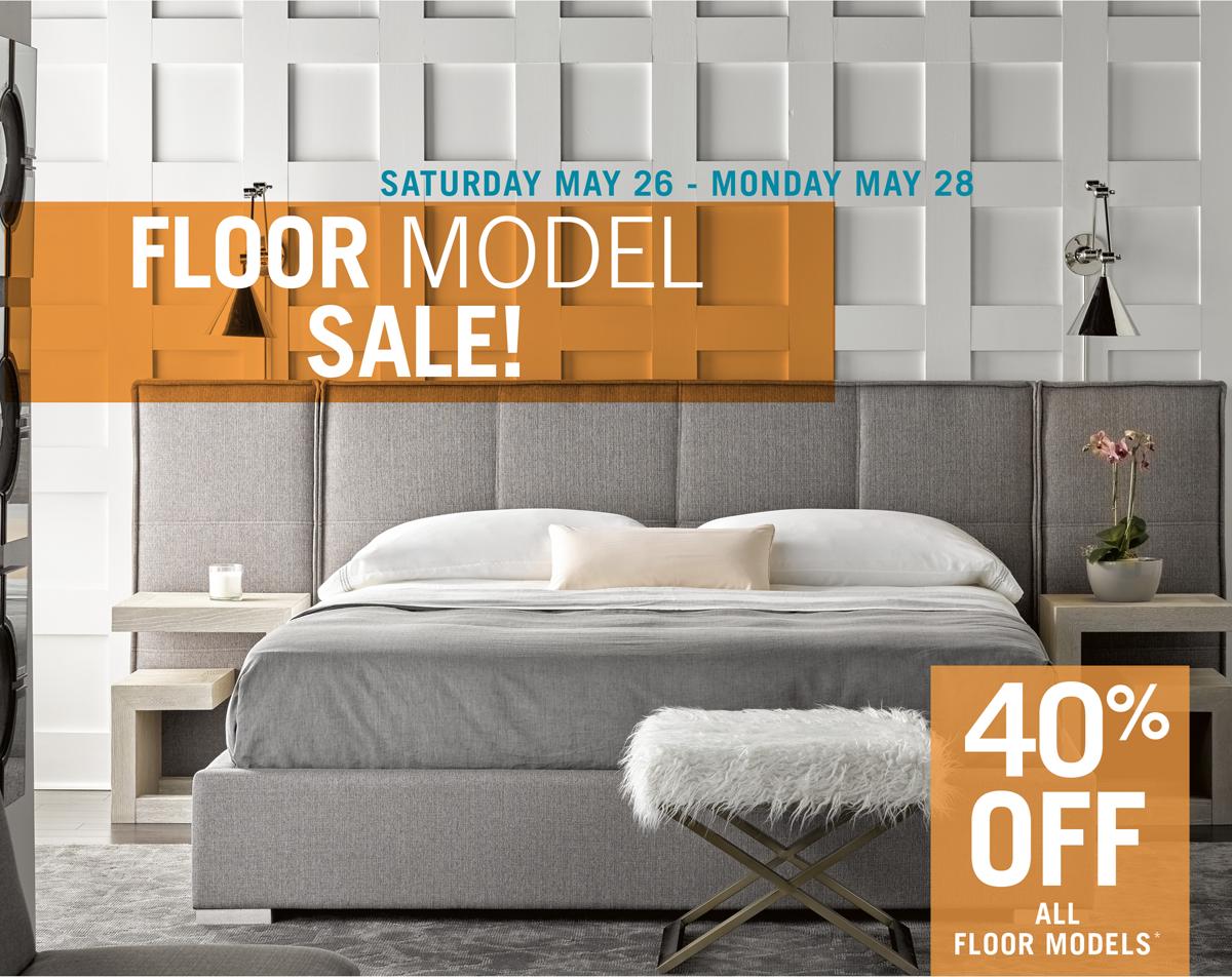 shop the floor model sale, 40% off