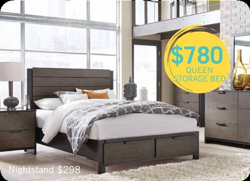 $780 queen storage bed
