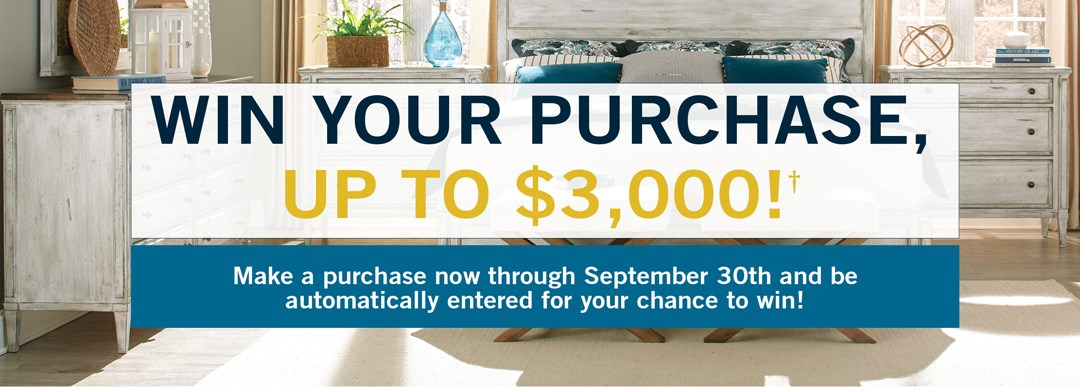 enter to win your purchse up to 3,000 - read more to find out how