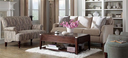 transitional living room setting