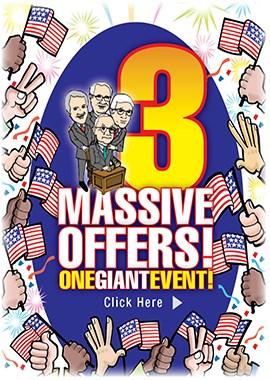 3 Massive Offers