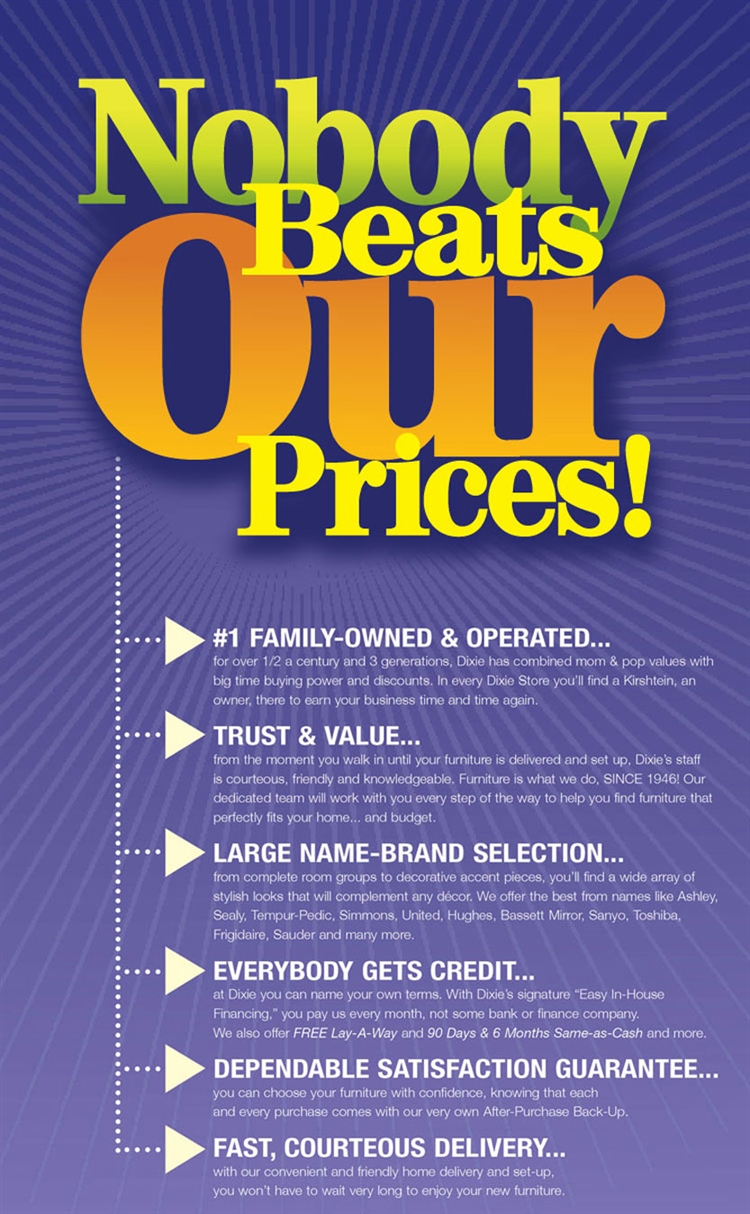 Nobody Beats Our Prices!