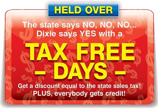 Tax Free Weekend! Going on Now! Don't Miss It!