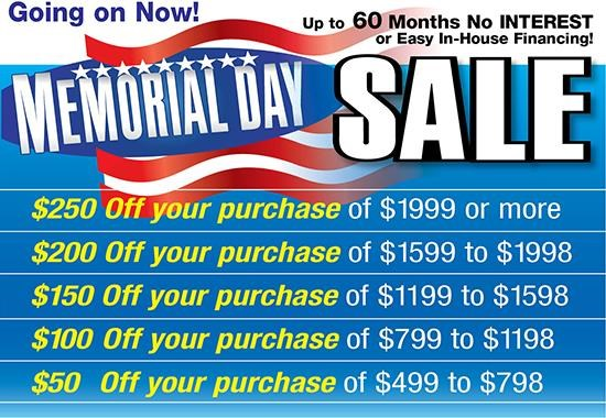 Dixie Furniture's Memorial Day Sale is Going on Now! Shop Today and Save, plus Special Financing!