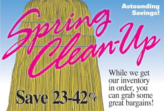 Dixie's Spring Clean-Up has begun! Shop Now, Save Big!