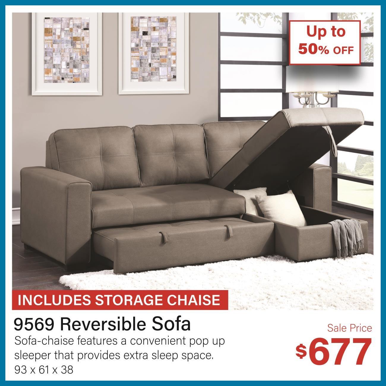 9569 Reversible sofa