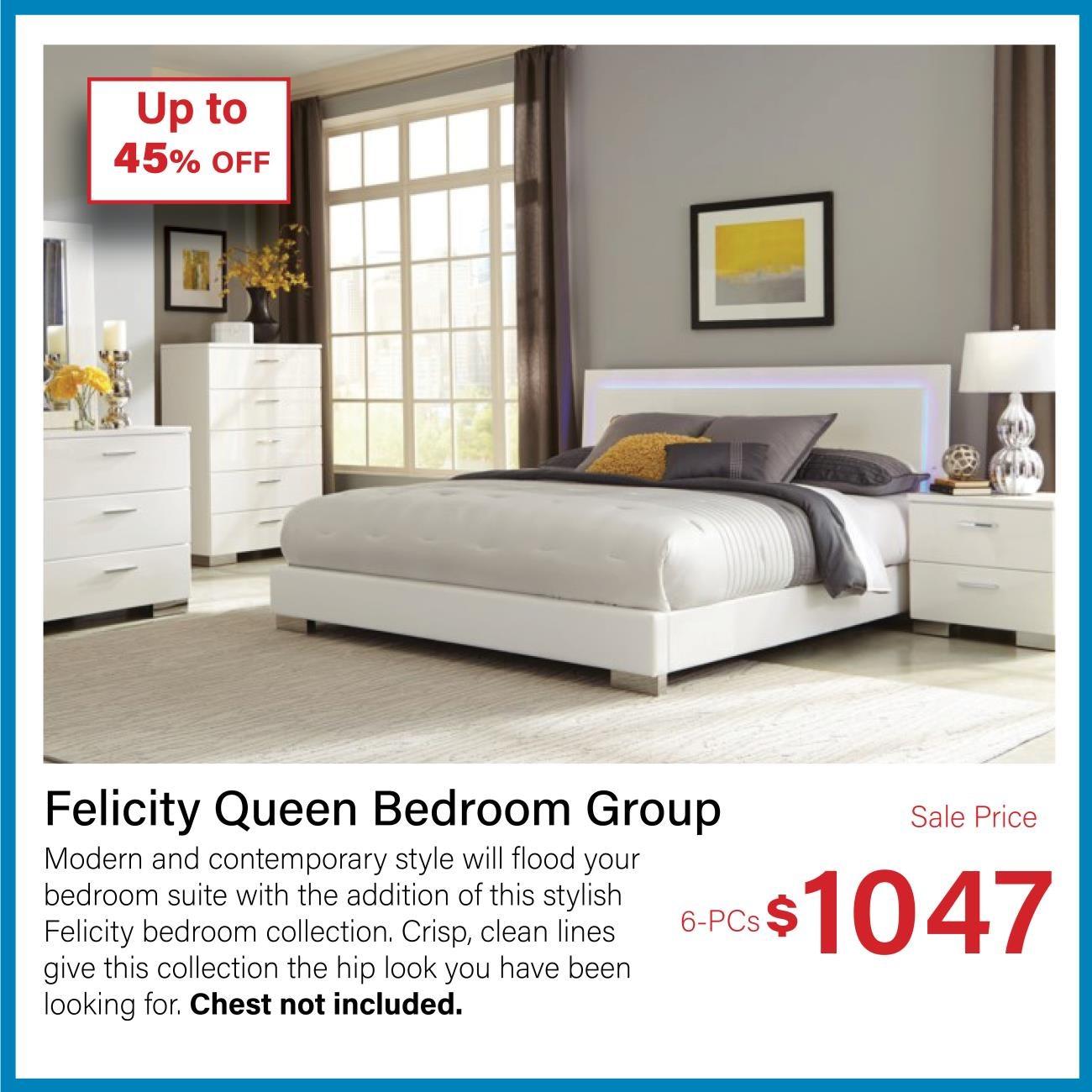 Felicity queen bedroom group