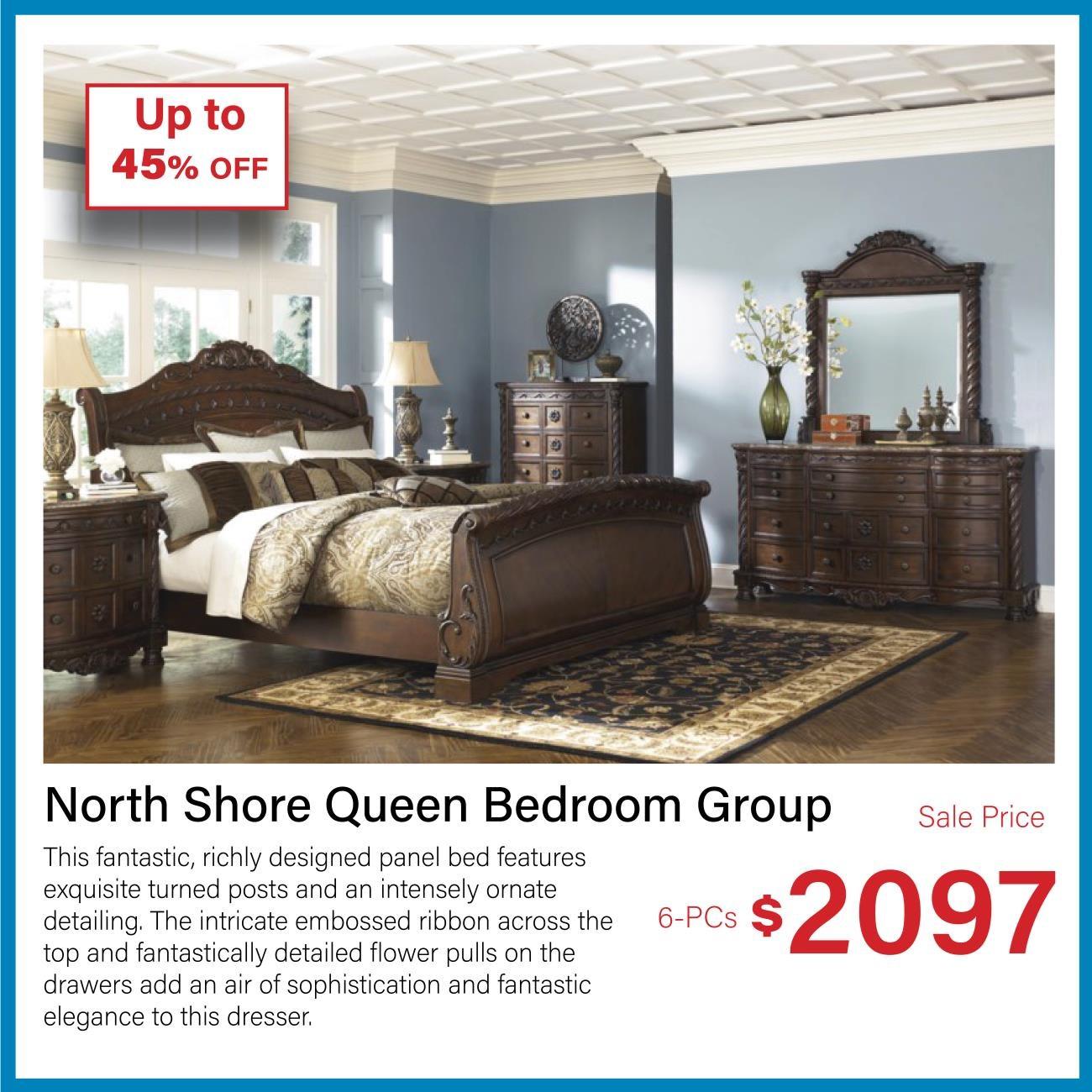 North shore queen bedroom group
