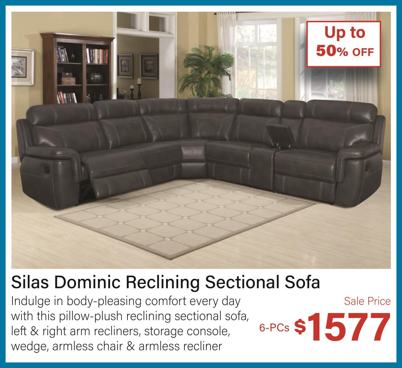 Silas dominic reclining sectional