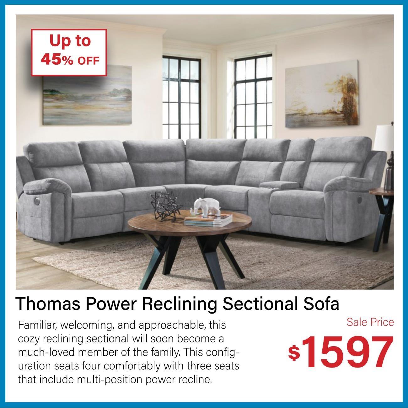 Thomas 6-pc reclining sectional sofa