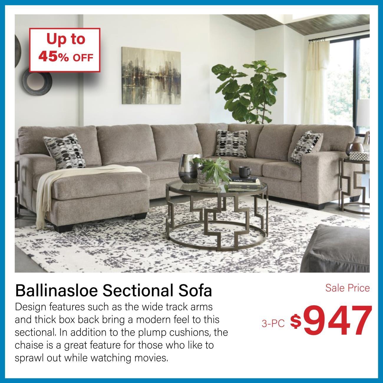 ballinasloe 3-pc sectional
