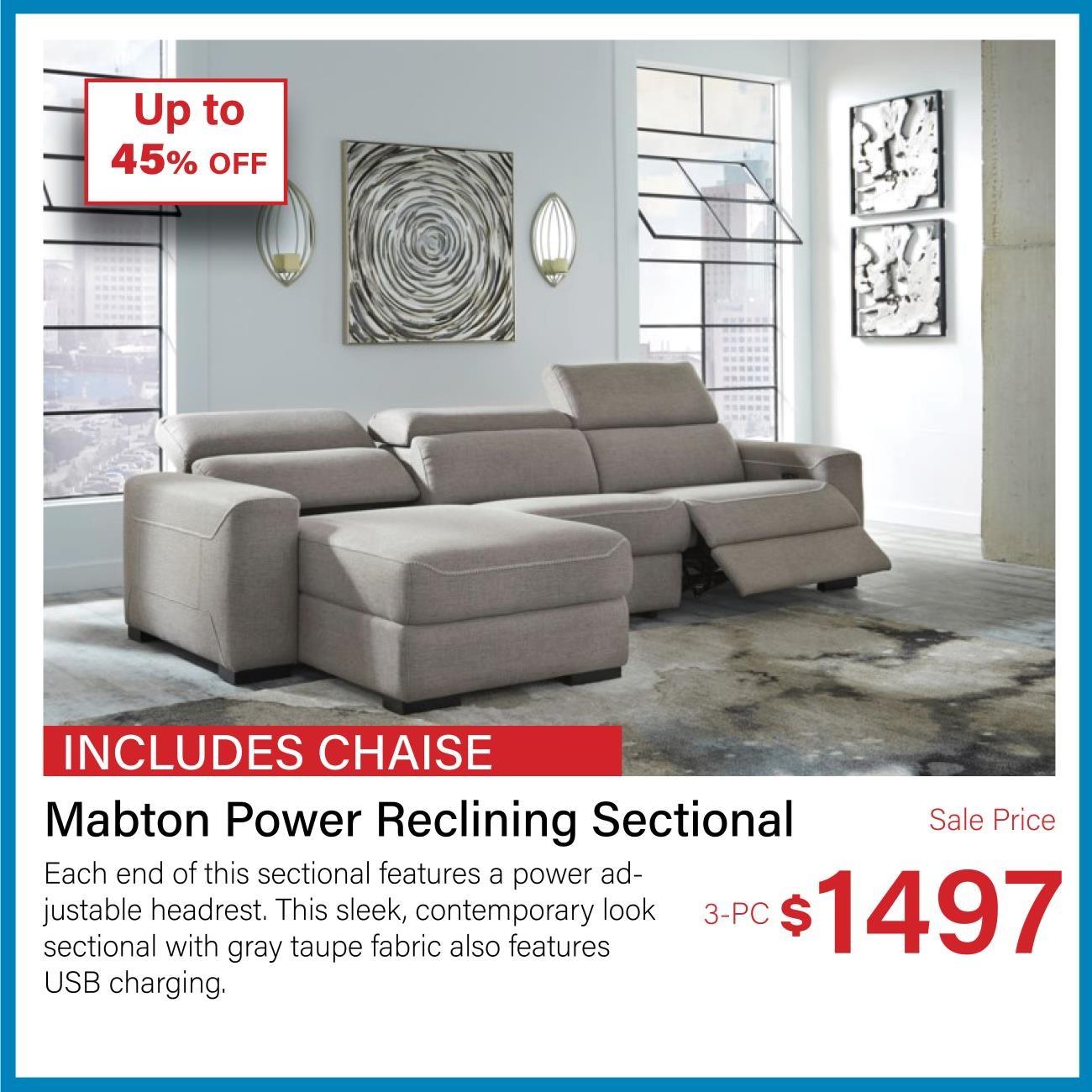 mabton power reclining sectional