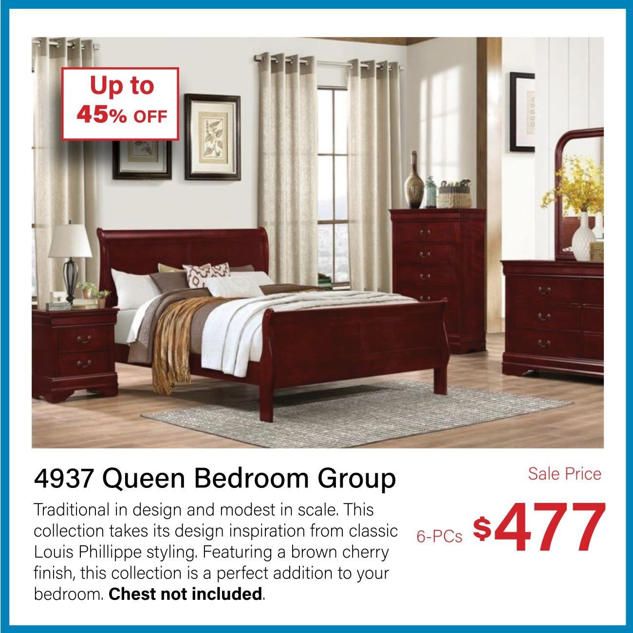 4937 queen bedroom group set