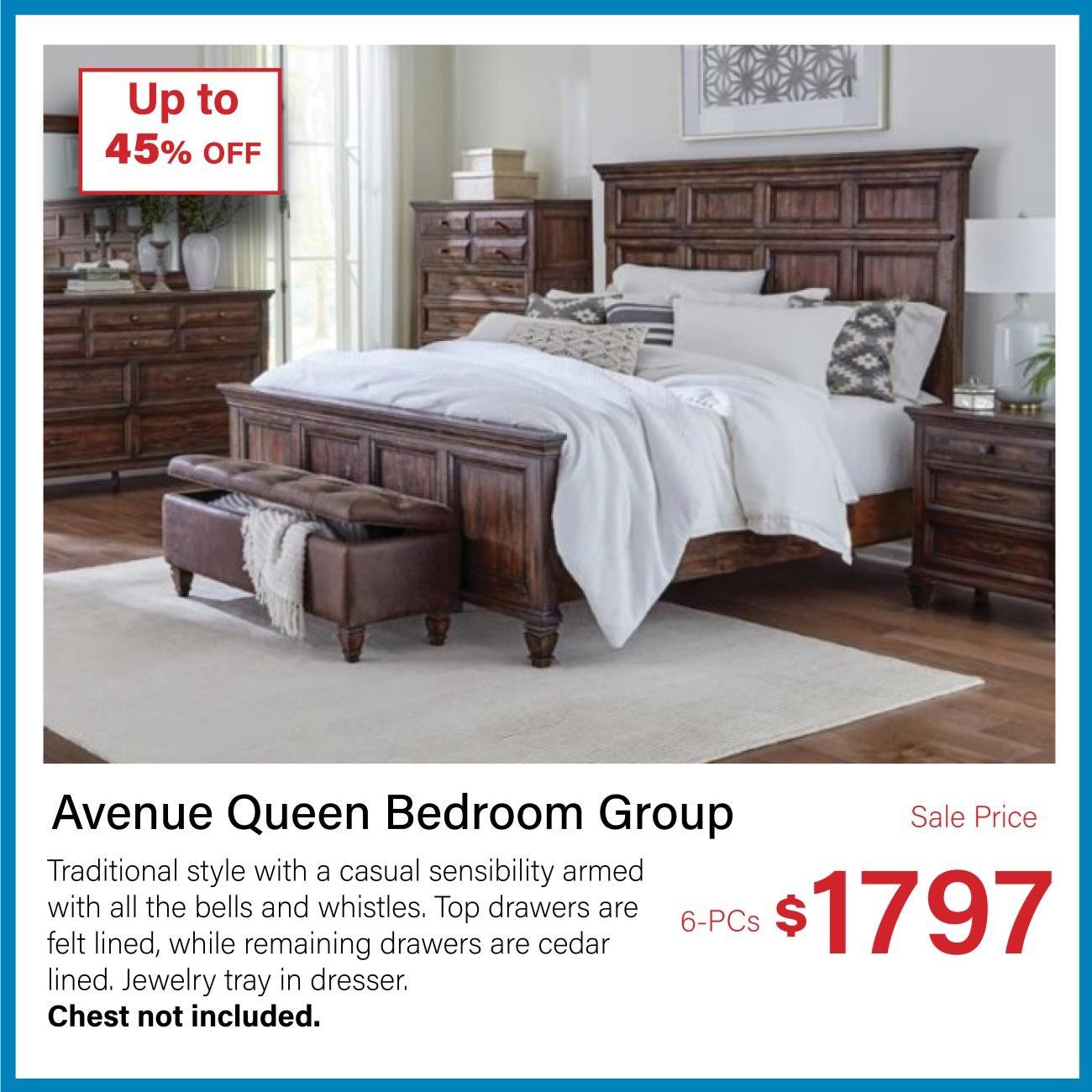 avenue queen bedroom group