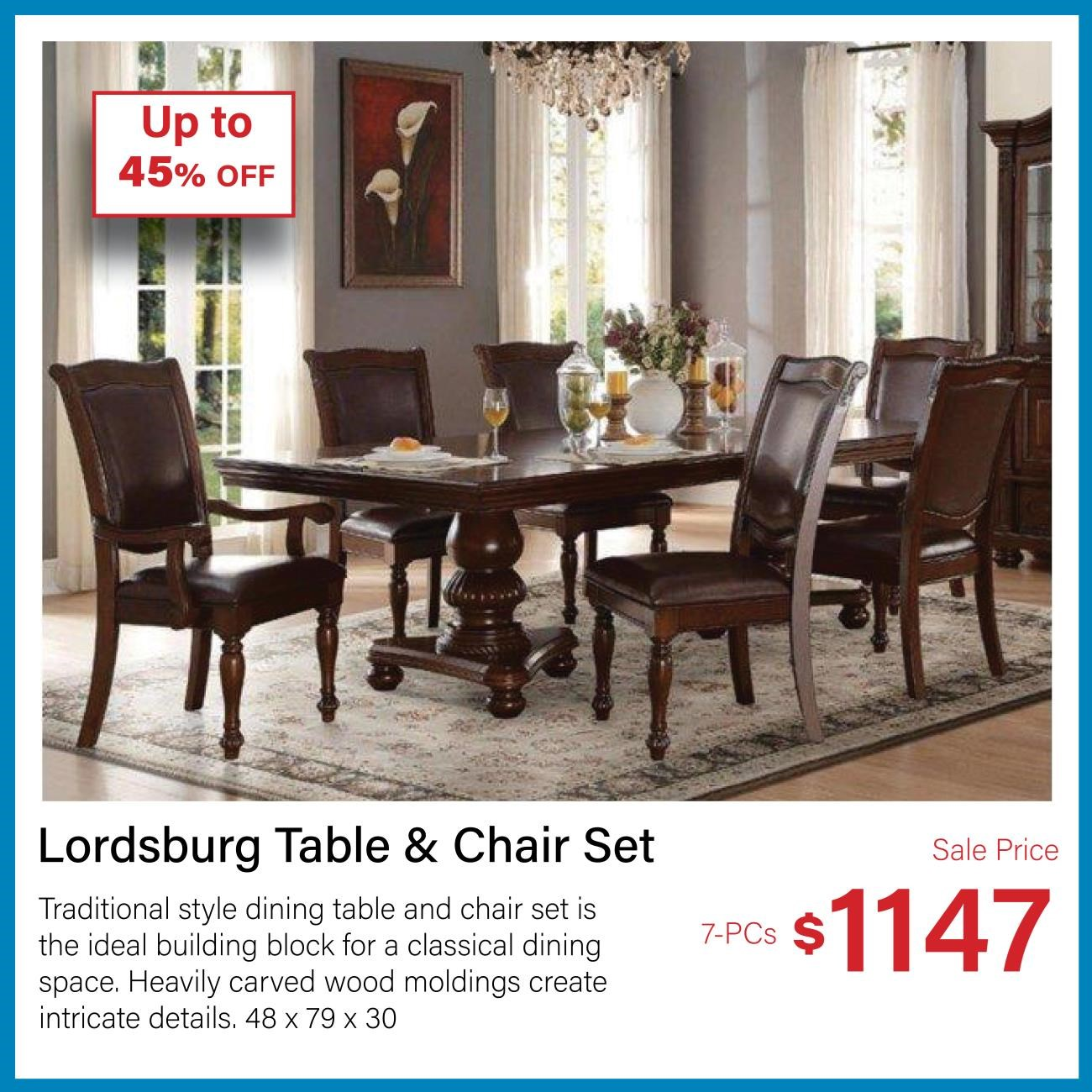 lordsburg table and chair set
