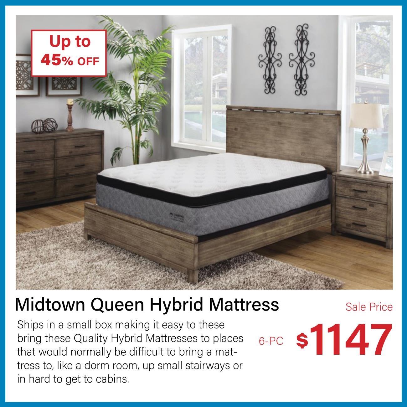 midtown queen medium hybrid cooling mattress