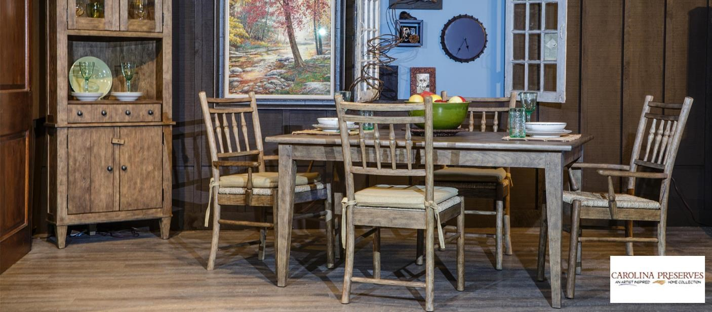 Carolina Preserves Rustic Style Dining Room Group
