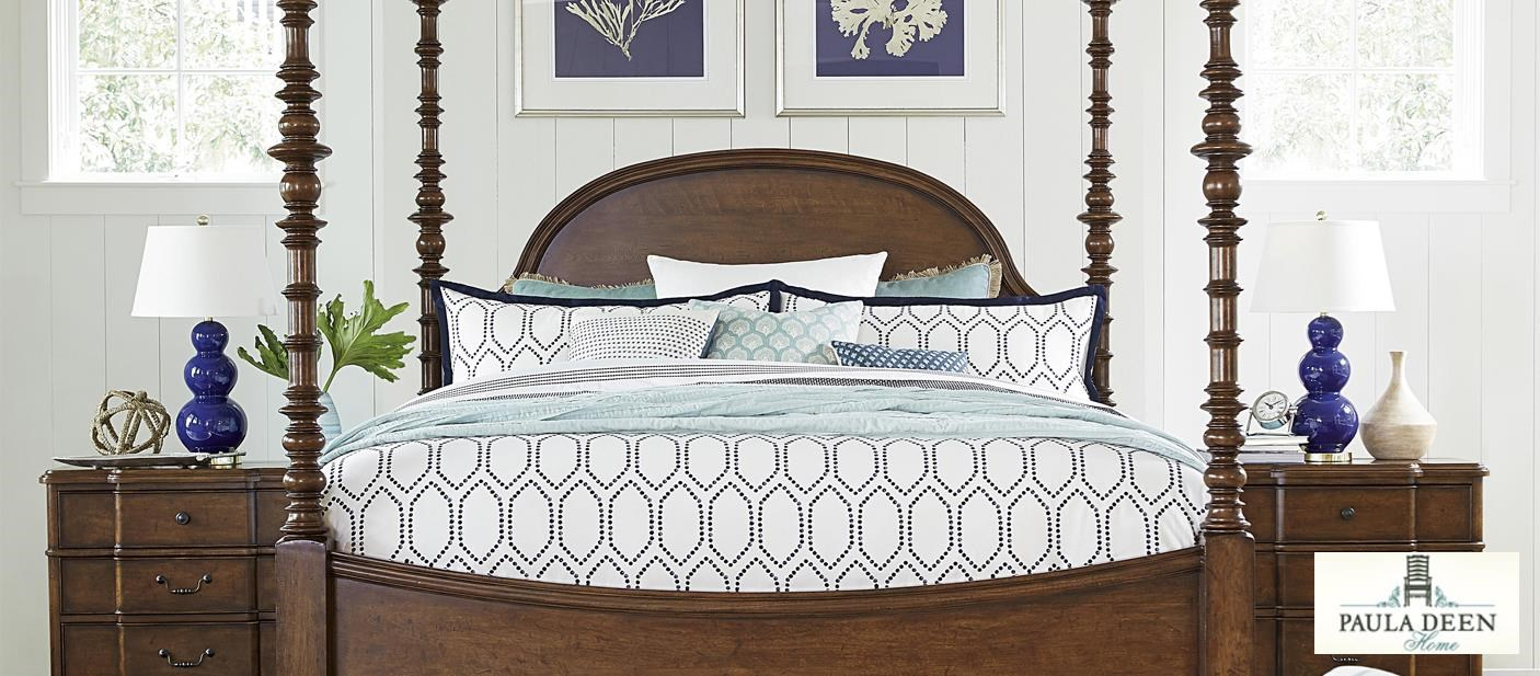 Paula Deen Bedroom Group with poster bed