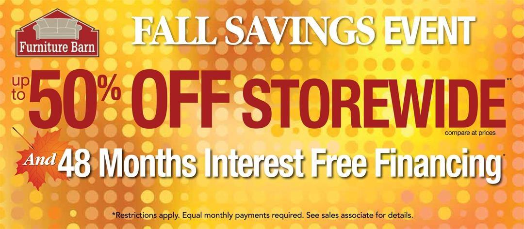 Fall Savings Event