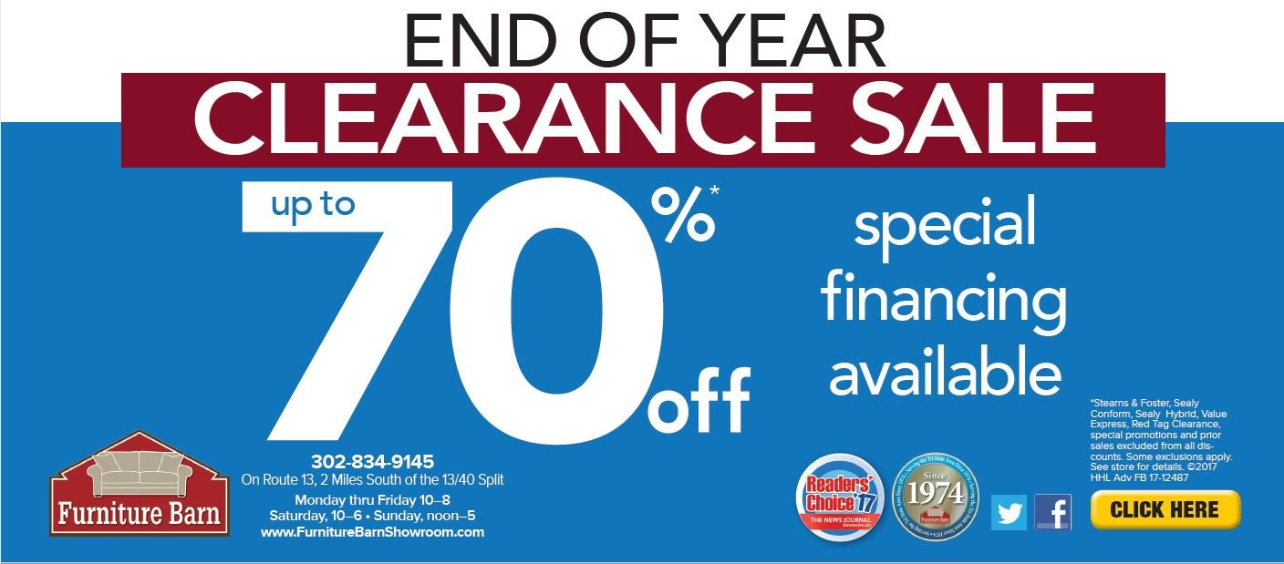 Holiday Hours 2017 Year End Clearance ...