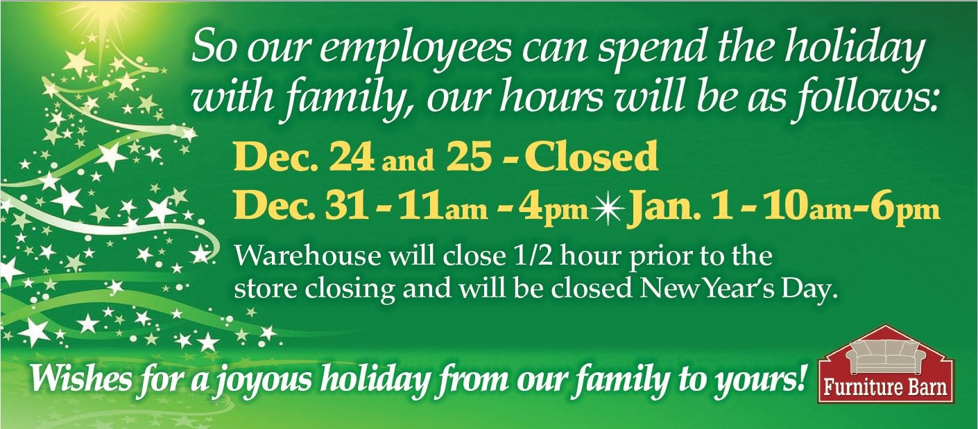 Holiday Hours 2017 ...