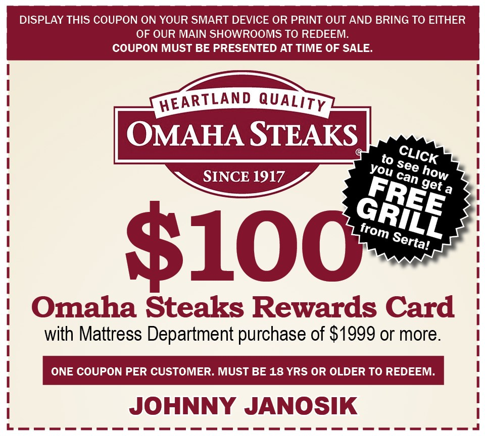 Get Your $100 Omaha Steaks Gift Certificate