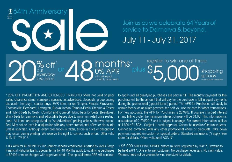 The 64th Anniversary Sale