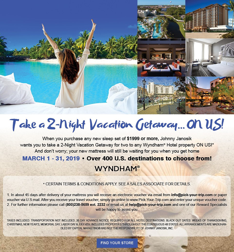 Take a 2-Night Vacation Getaway... ON US!