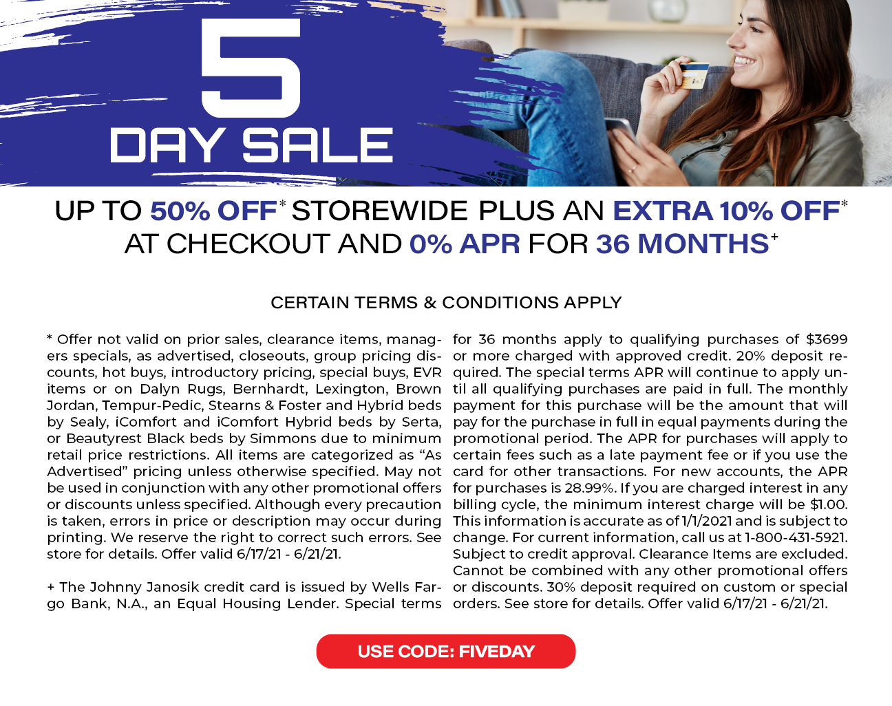 5 Day Sale