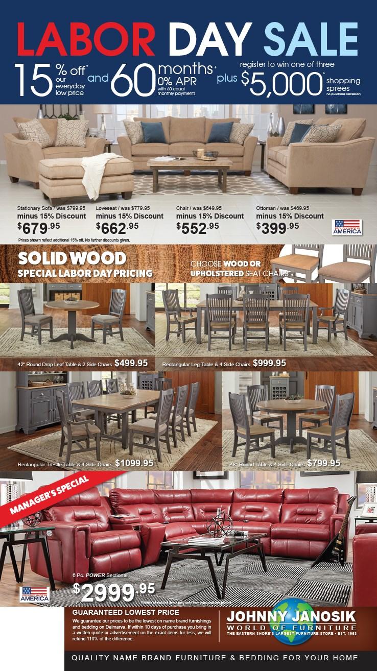 Furniture Deals Johnny Janosik Delaware Maryland