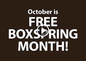 October is Free Boxspring Month