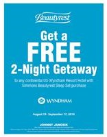 Take a FREE 2-Night Getaway on Simmons Beautyrest