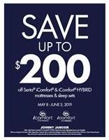 Save up to $200 off Serta iComfort & iComfort HYBRID Mattresses