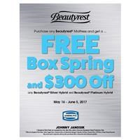 Simmons Beautyrest Free Box Spring AND $300 Off