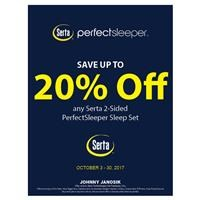 20% Off 2-Sided Serta PerfectSleepers