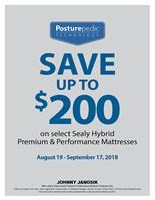 Save up to $200 Off select Sealy Hybrid Sleep Sets