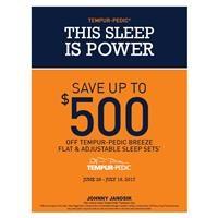Save up to $500 Tempur-Breeze Beds