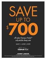 Take up to $700 Off select Tempur-Pedic Sleep Sets