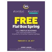 Serta iComfort or iComfort Hybrid Free Box Spring