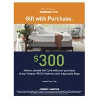 $300 Gift Card with Tempur Adjustable Set Purchase