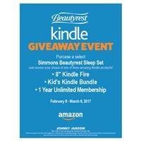 Simmons Beautyrest Amazon Kindle Giveaway