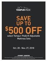 Up To $500 Off Tempur-Pedic Sleep Sets