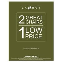 La-Z-Boy 2 Chairs for 1 Price