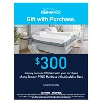 $300 Gift Card with Tempur-Pedic Set Purchase