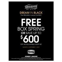 Beautyrest Black Fre Box Spring or $600 Off Adjustable Sets
